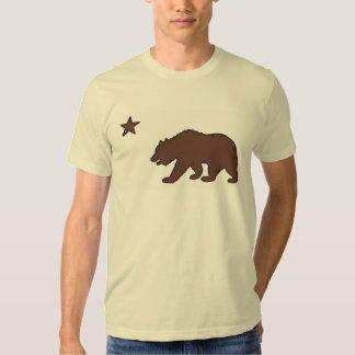 California state bear brown symbol guys tee