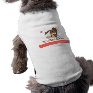 California State Bear Goes Surfing Pet Tshirt