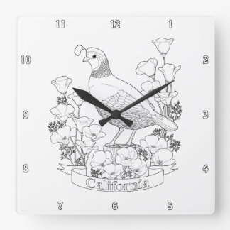 Golden state wall clocks zazzle for California state flower coloring page