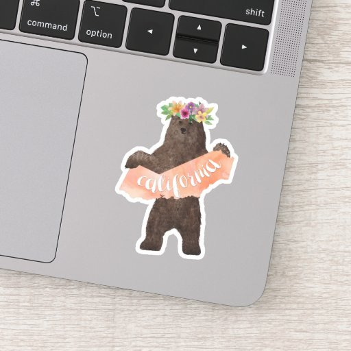 California State Boho Bear Sticker