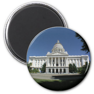 California State Capitol Building 2 Inch Round Magnet