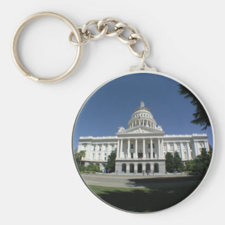 California State Capitol Building Basic Round Button Keychain