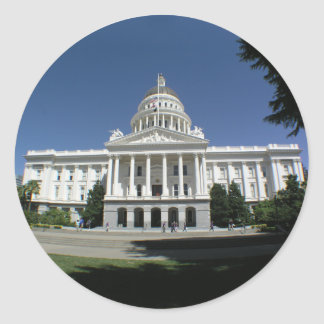 California State Capitol Building Classic Round Sticker