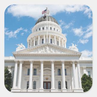 California State Capitol in Sacramento Square Sticker