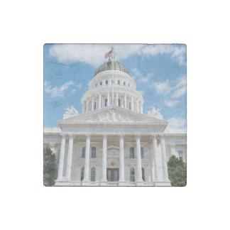 California State Capitol in Sacramento Stone Magnet