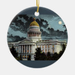 California State Capitol Moonlight Ceramic Ornament