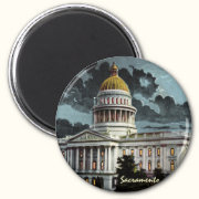 California State Capitol Moonlight Magnet