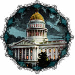 California State Capitol Moonlight Ornament Photo Cutout
