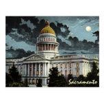 California State Capitol Moonlight Postcard