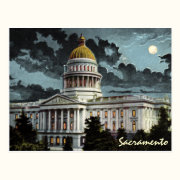 California State Capitol Moonlight Postcard