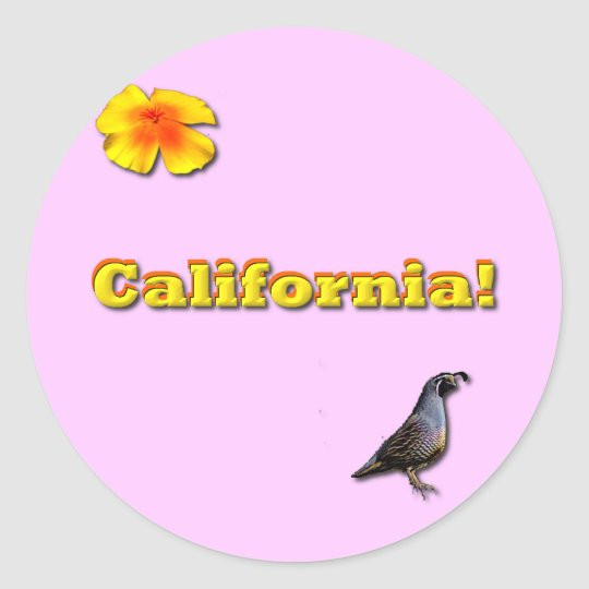 California State Classic Round Sticker