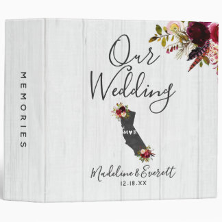 California State Destination Wedding Photo Album Binder