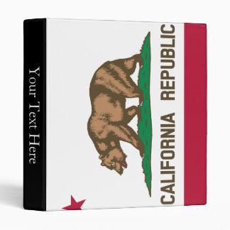 California State Flag 3 Ring Binder