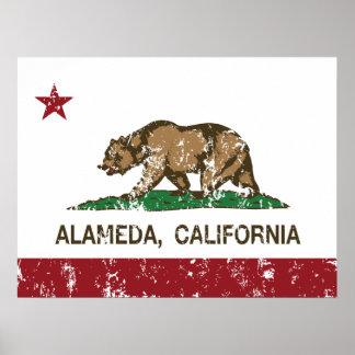 California State Flag Alameda Poster