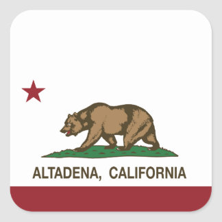 California State Flag Altadena Square Sticker