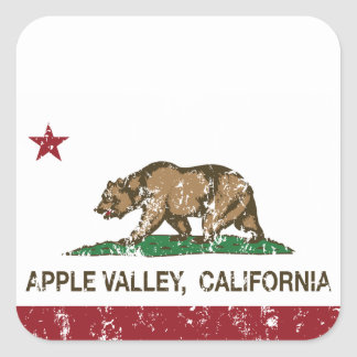 California State Flag Apple Valley Square Sticker