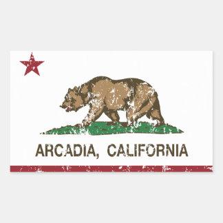 California State Flag Arcadia Rectangular Sticker