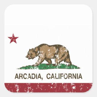 California State Flag Arcadia Square Sticker