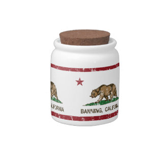 California State Flag Banning Candy Dish