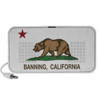 California State Flag Banning Speaker