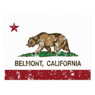 California State Flag Belmont Postcard