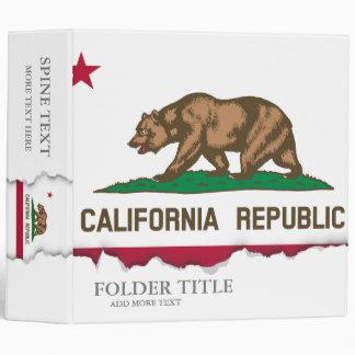 California State Flag Binder