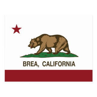 California State Flag Brea Postcard