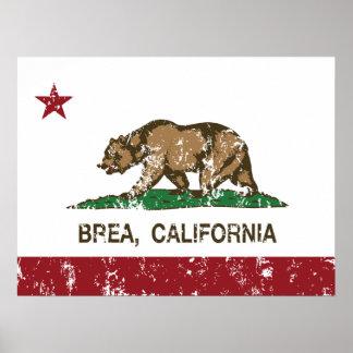 California State Flag Brea Poster