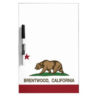 California State Flag Brentwood Dry Erase Boards
