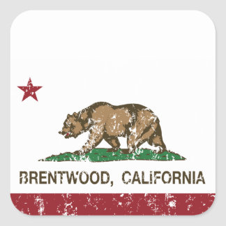 California State Flag Brentwood Square Sticker
