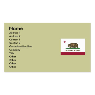 California State Flag Double-Sided Standard Business Cards (Pack Of 100)