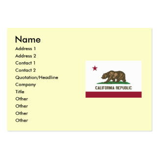 California State Flag Large Business Cards (Pack Of 100)