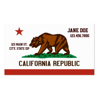 California State Flag Business Cards