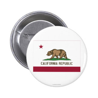 California State Flag Pinback Buttons