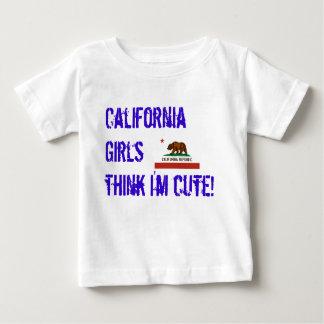 california-state-flag, California Girls think I... T-shirt
