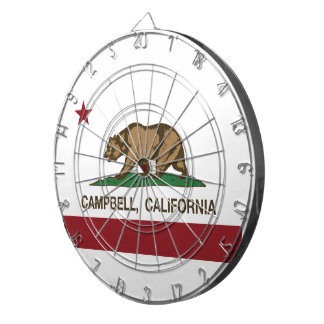 California State Flag Campbell Dartboard With Darts