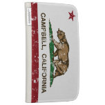 California State Flag Campbell Kindle 3G Cases