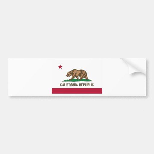 California State Flag Car Bumper Sticker