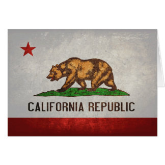 California State Flag Card