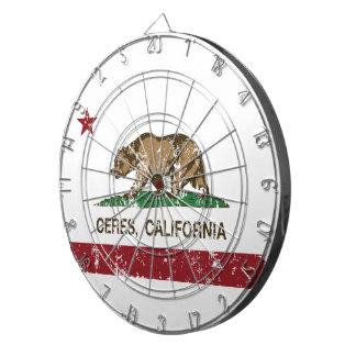 California State Flag Ceres Dartboard