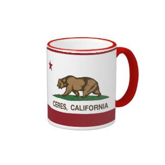 California State Flag Ceres Ringer Mug