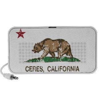 California State Flag Ceres iPod Speakers