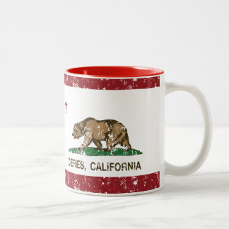 California State Flag Ceres Two-Tone Coffee Mug