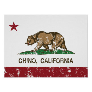 California State Flag Chino Poster