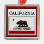 California State Flag Christmas Ornament