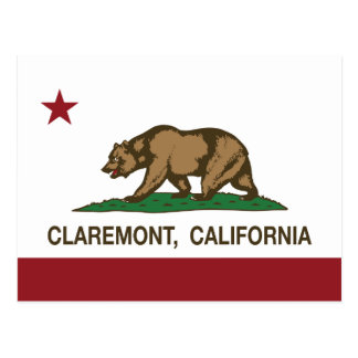 California State Flag Claremont Postcard