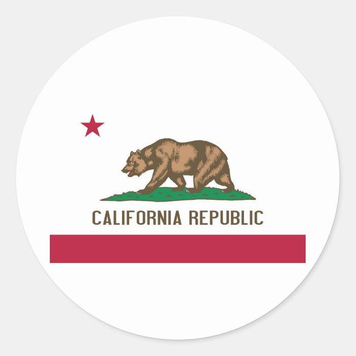 California State Flag Classic Round Sticker