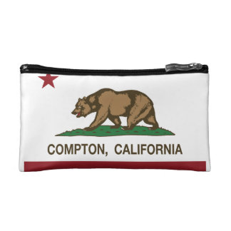 California State Flag Compton Makeup Bag