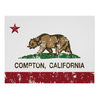 California State Flag Compton Posters