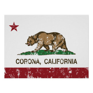 California State Flag Corona Print